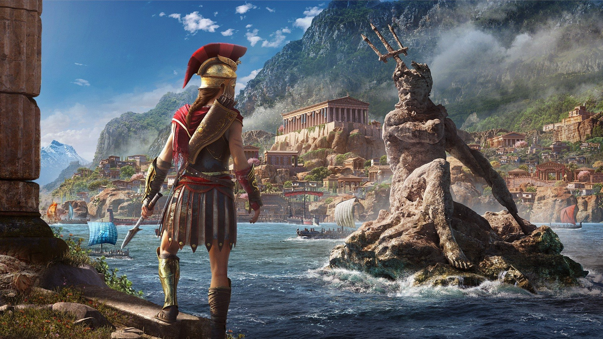 In Assassin S Creed Odyssey You Can Scale The Penis Of Zeus Let S