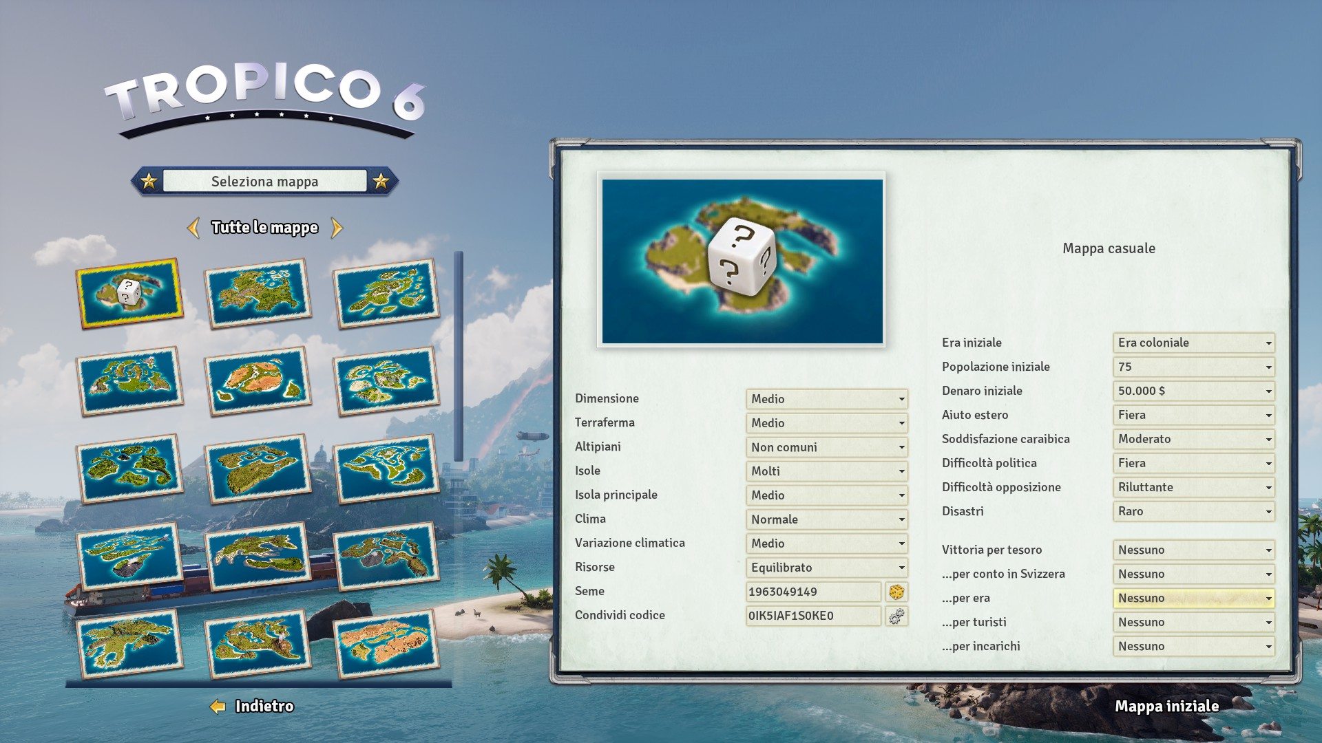 Tropico 6 Sandbox