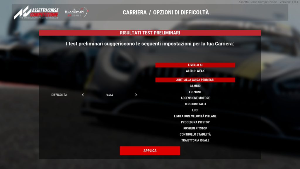 Assetto Corsa Competition Difficulty