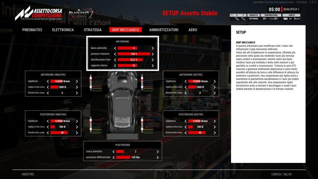 Assetto Corsa Competizione Configuración