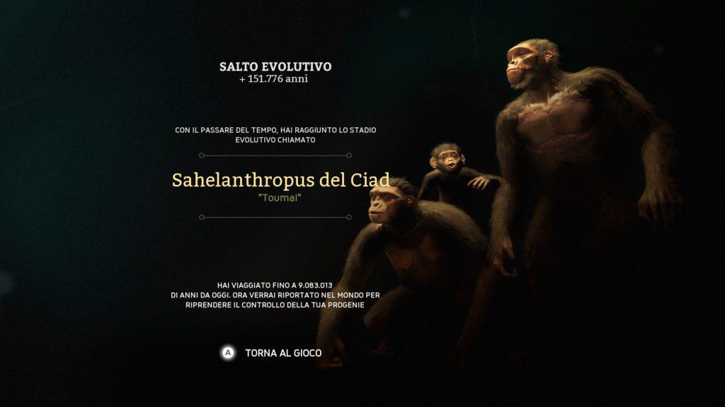 Sahelanthropus del Ciad di Ancestor the Humankind Odyssey