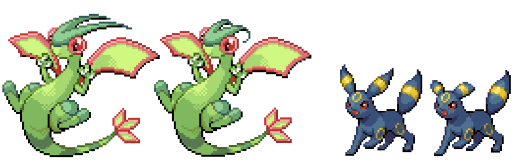 Pokémon - Flygon and Umbreon