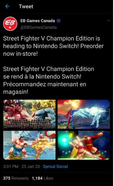 Street Fighter Schalter
