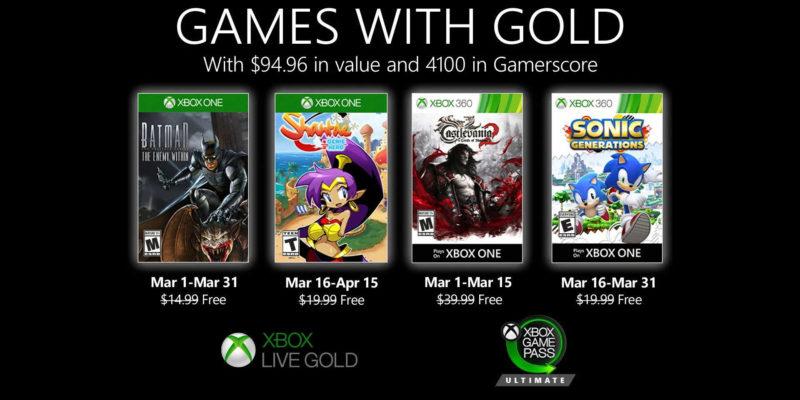 Juegos de Xbox con Gold March