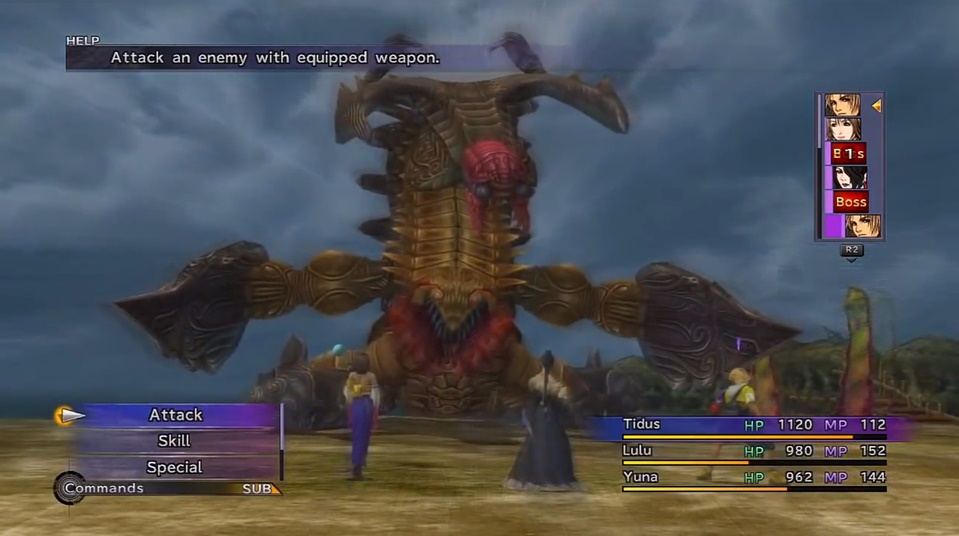 Mostro brutto di Final Fantasy X
