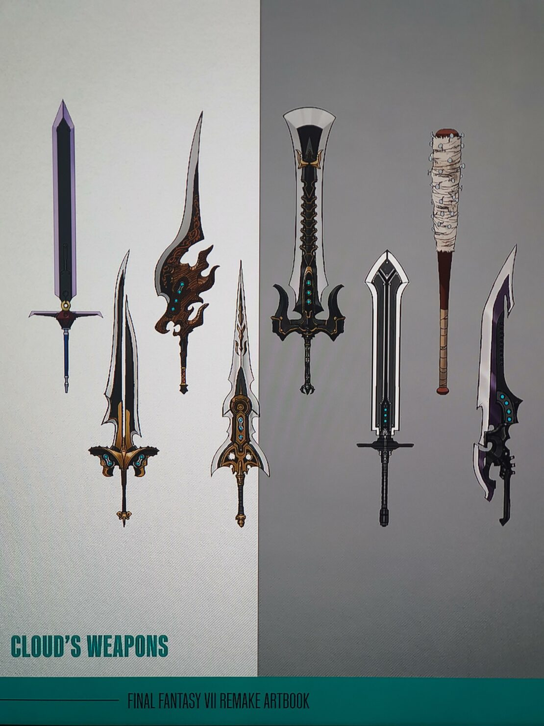 Final Fantasy Vii Remake Here Are The Concept Art Of The Weapons Cut By The Game