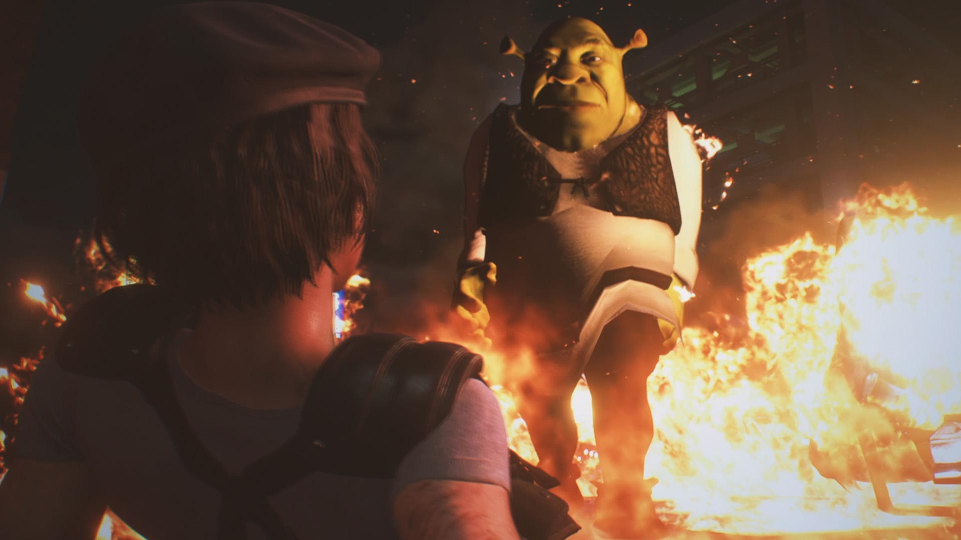 Resident Evil 3 Remake A Mod Transforms Nemesis Into Shrek Let S