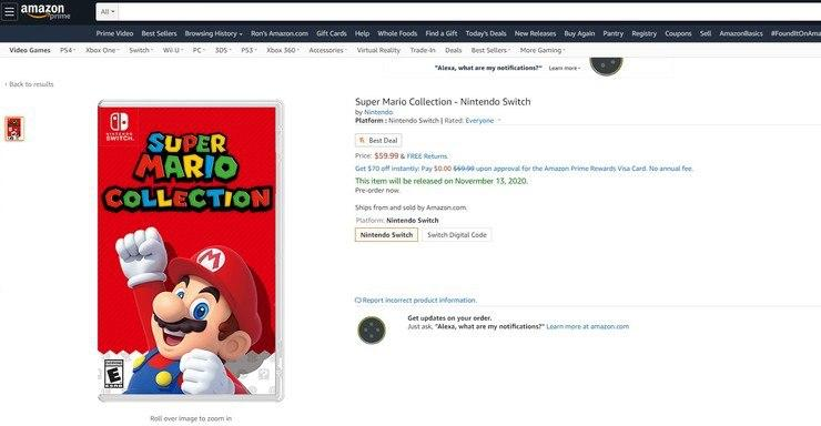 Super Mario Collection Nintendo Switch