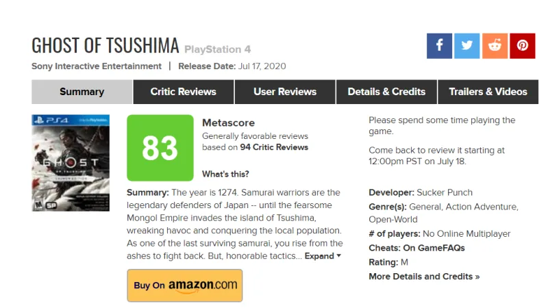 Metacritic User Score Review Bombing