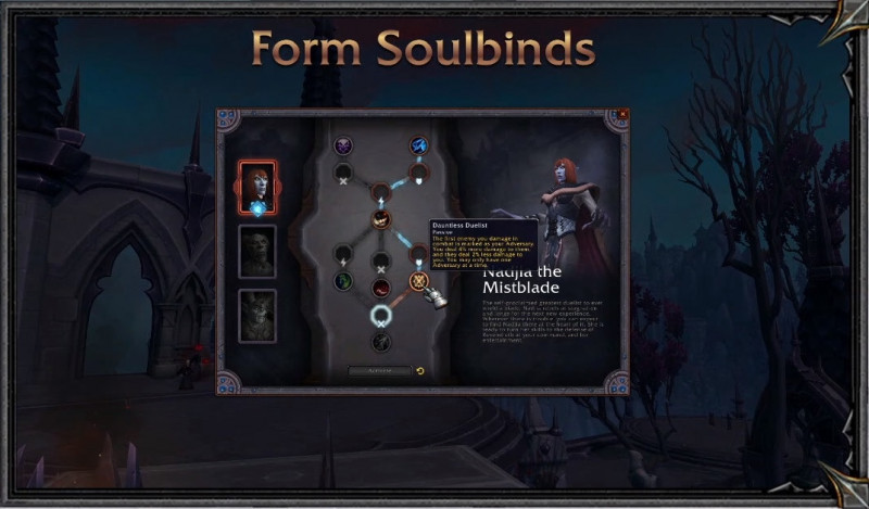 World of Warcraft Shadowlands Soulbinds