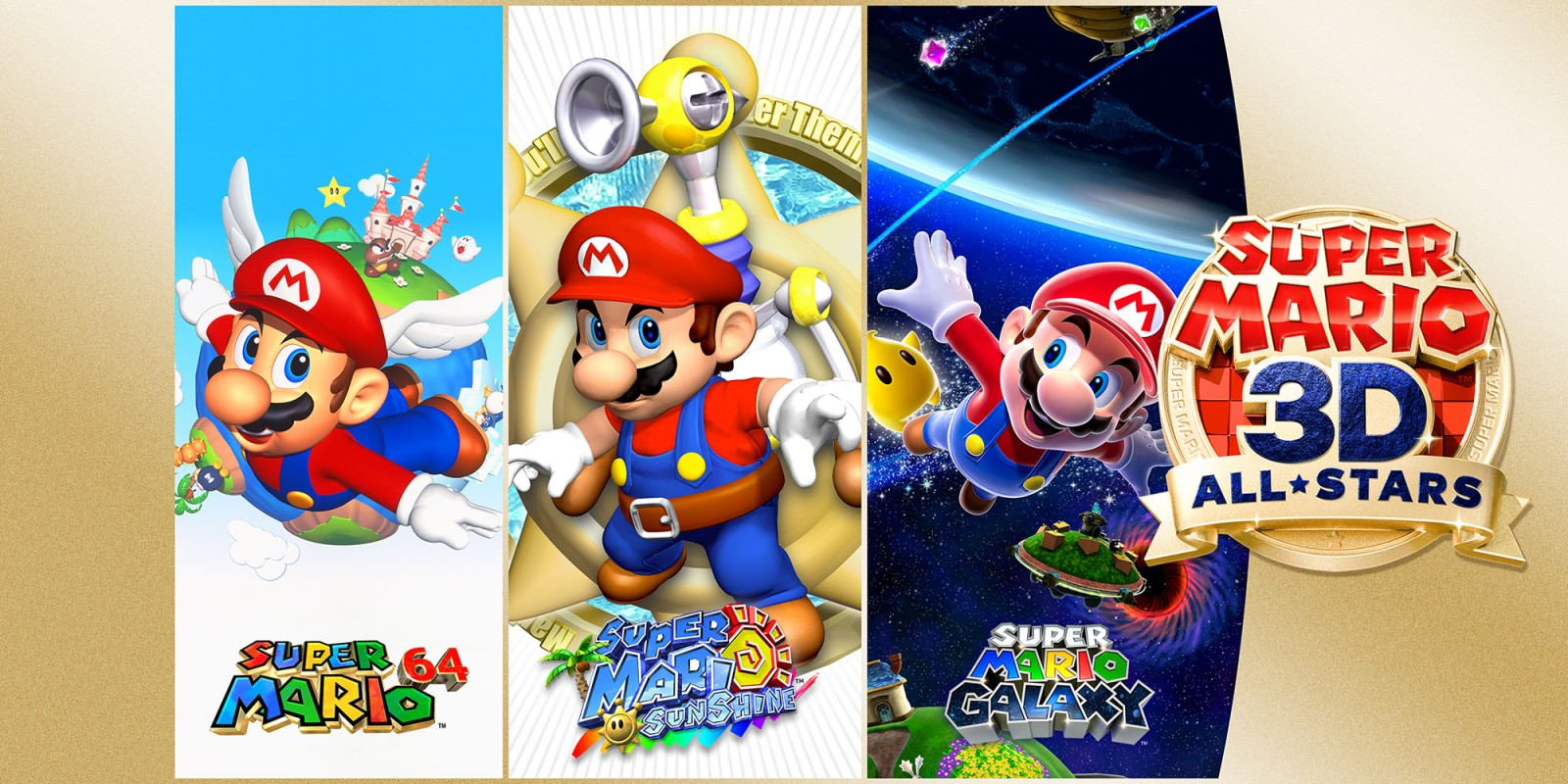 Super Mario 3D All-Stars Galaxy 64 Sunshine Switch для Nintendo Switch