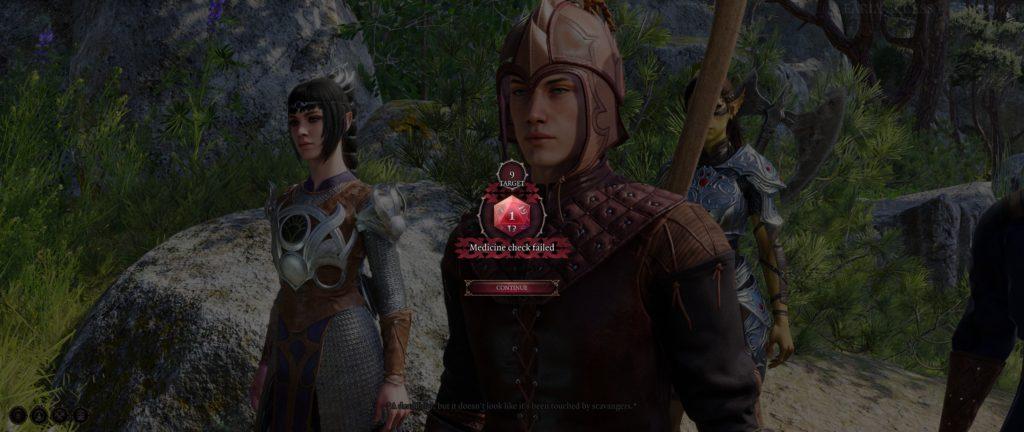 D&D Baldur's Gate IIi, rouleau 1