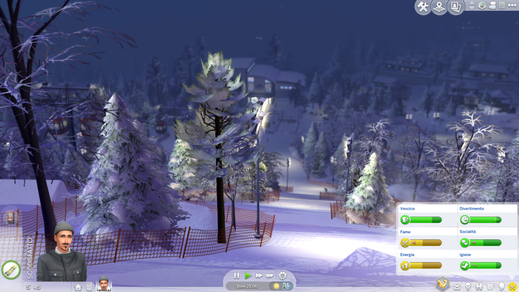 the Sims 4 Snowy Oasis