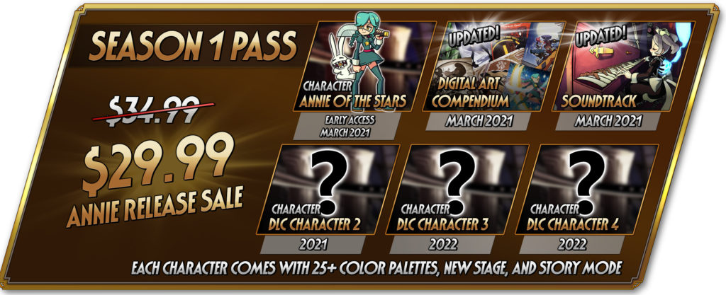 Annie Skullgirls 2nd Encounter Hidden Variable Autumn Games Season Pass