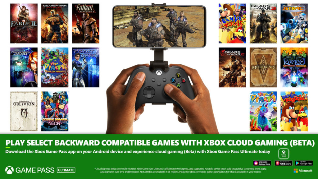 Xbox 360 Game Pass Ultimate xCloud Retrocompatibilità Microsoft