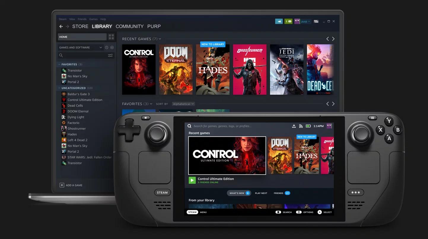 Console portátil da válvula de convés Steam