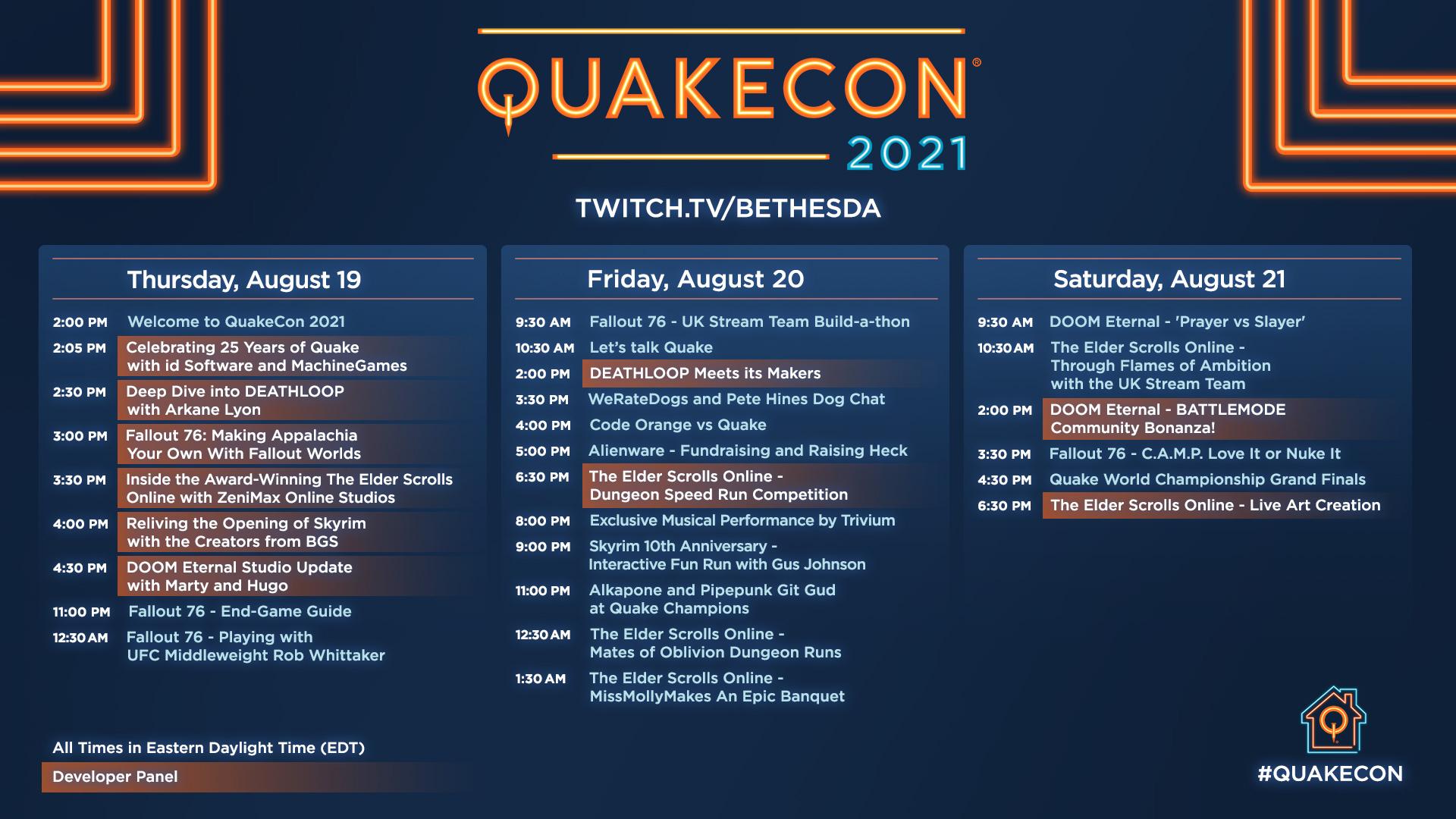 QuakeCon 2021 Bethesda Quake